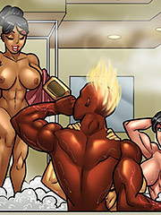 Interracial cartoon porn - Welcome to Cloud10 by Rabies